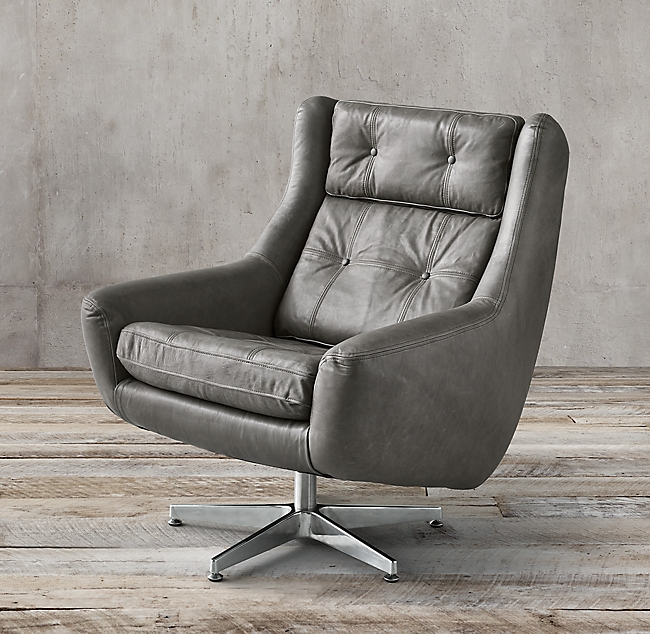 Motorcity Leather Swivel Chair Leather swivel chair