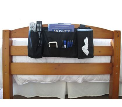 Headside Storage Caddy is consider a top must have dorm room essential product. Some dorm stuff like our bedside caddy is a real need. Without this convenient products students must jump in and out of bed for the smallest of things. Cheap dorm product!