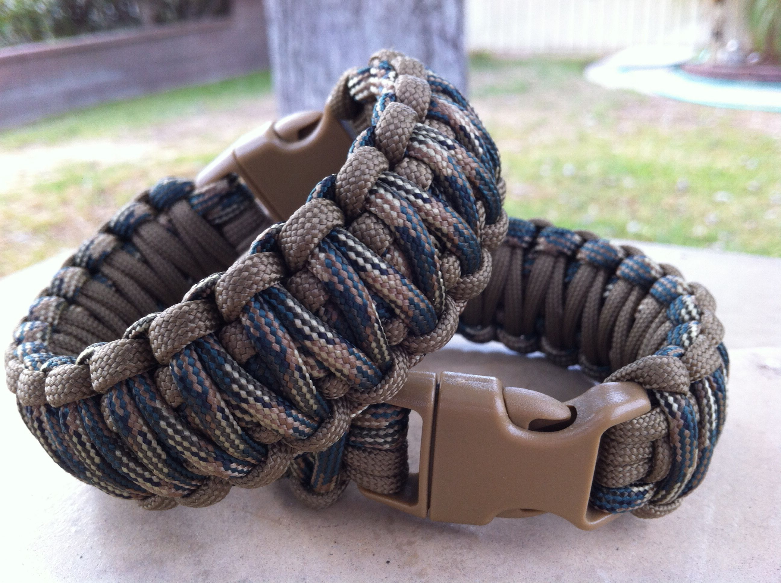 Custom Tactical Survival Bracelet Coyote By Leverage550 His