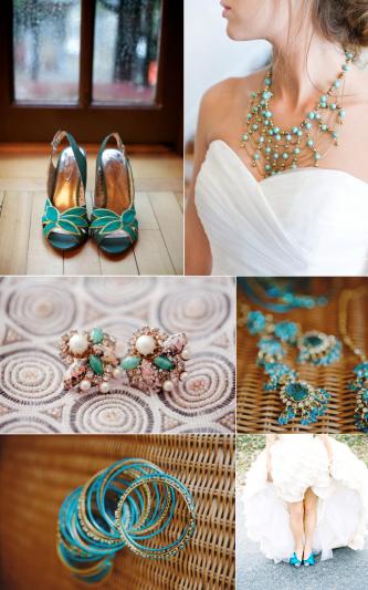 turquoise wedding accessories