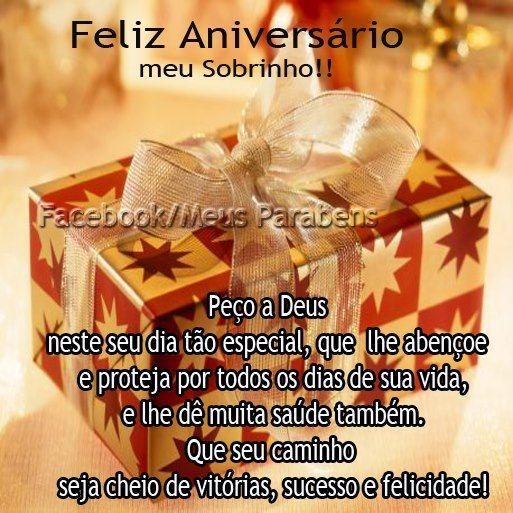 Feliz Aniversário Meu Sobrinho Peço A Deus Neste Seu Feliz
