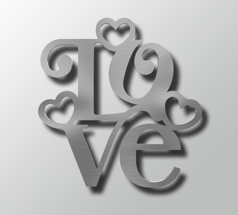 Love wall decor love metal wall art heart wall art word art