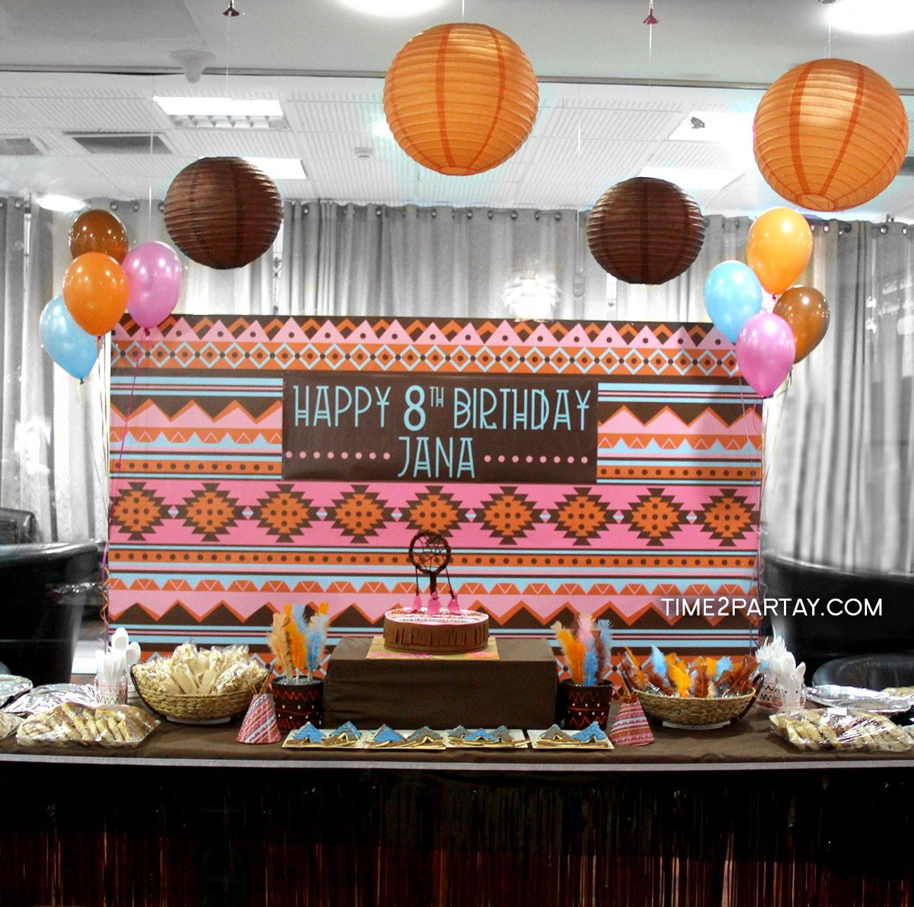 Jana's Native American Themed Birthday