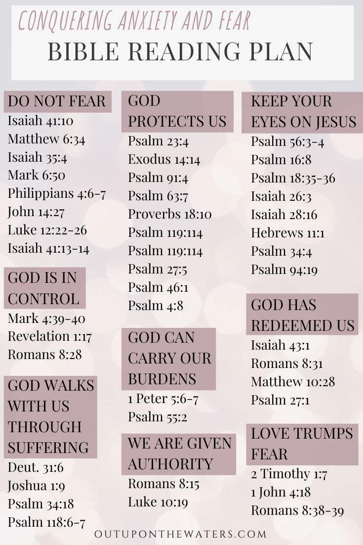 Bible Verses for Conquering Fear and Anxiety - Out