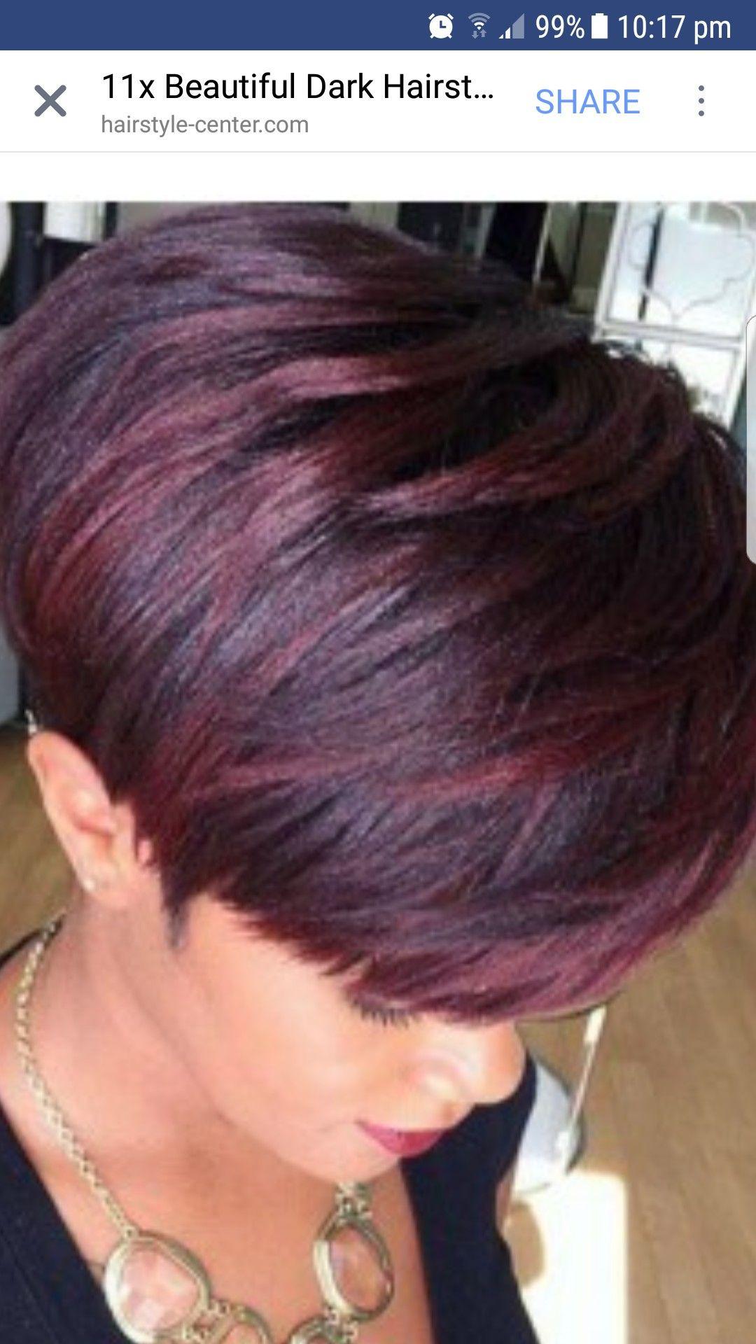 Pin by lynda mckillop on red highlights on short hair pinterest