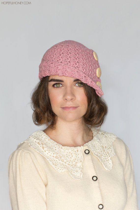 CROCHET PATTERN - Rosebud Cloche Hat, 1920\'s Flapper Hat | Gorros y ...