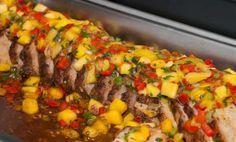 Roasted Pork Loin with MangoSalsa Recipe - Relish