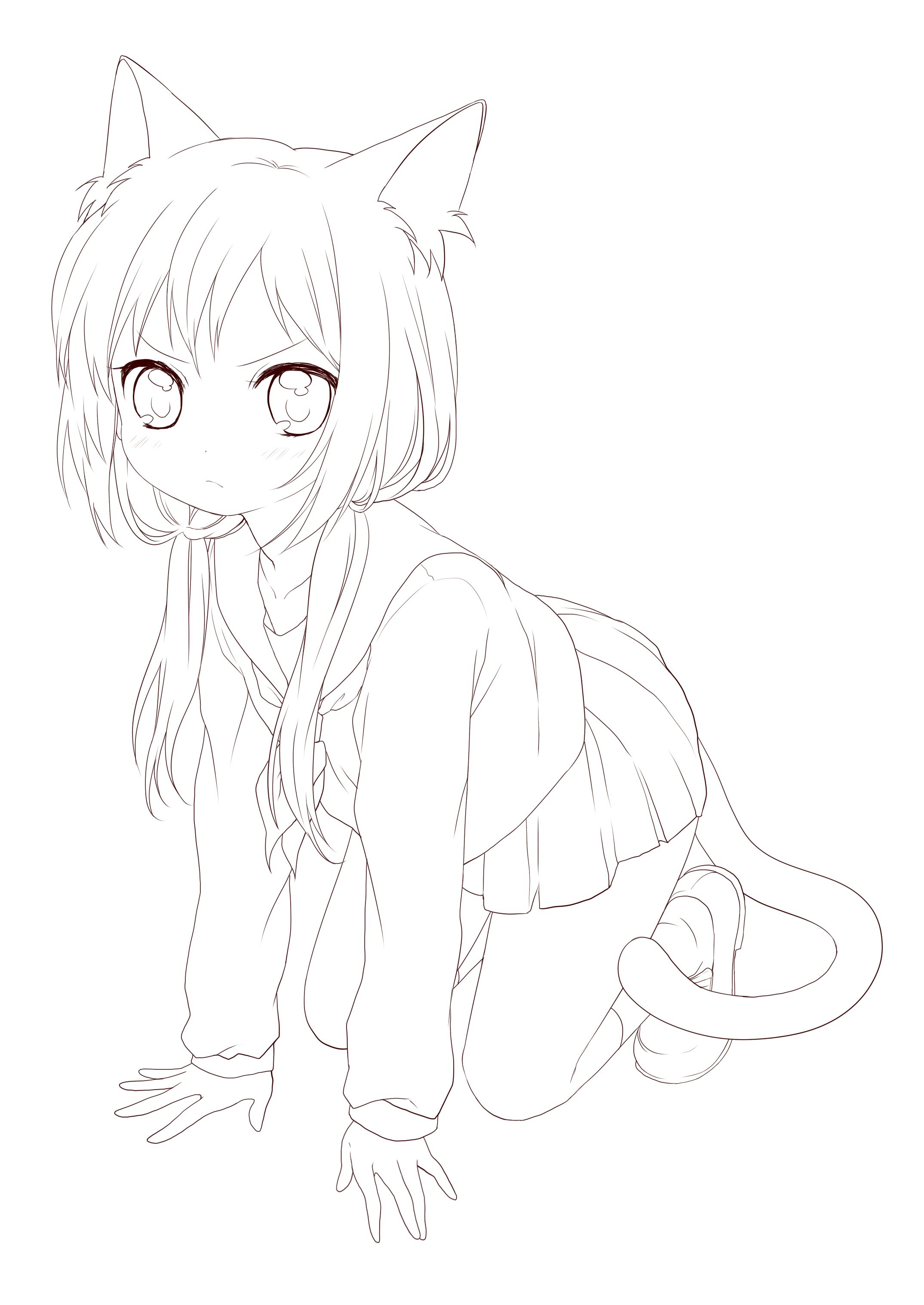 Anime Lineart Anime Drawings Sketches Anime Lineart Anime Sketch