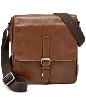 2d888f6ba Fossil Men's Davis North South Bag - Brown | Products | Bags, Mens ...