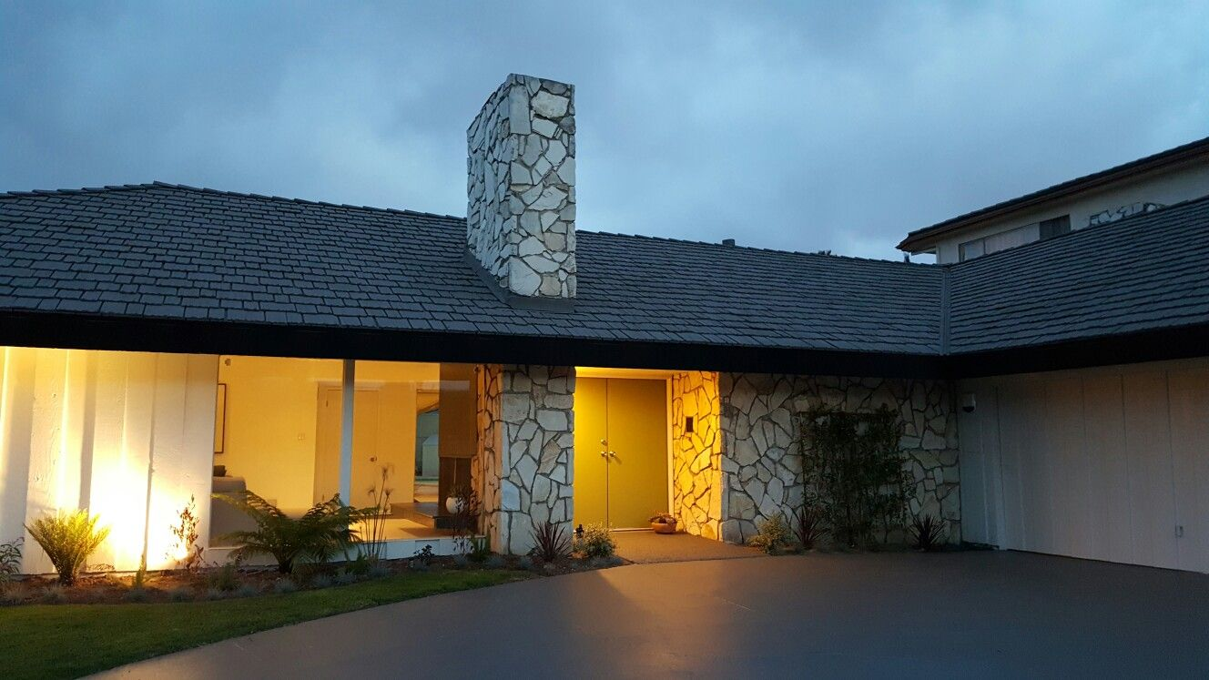 Modern mid century entry at mount vernon drive