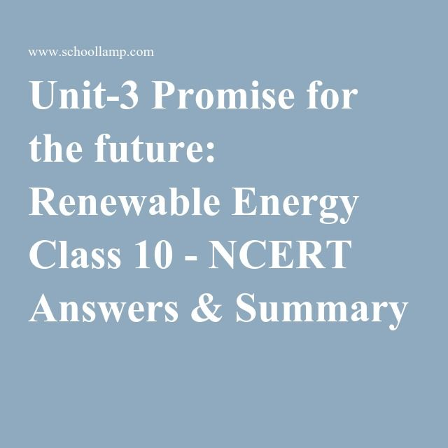 promise for the future renewable energy essay