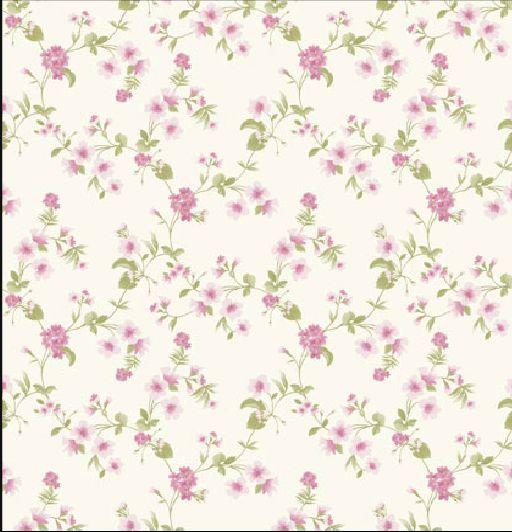 Habitaci n con papel pintado flores buscar con google - Papeles pintados romanticos ...