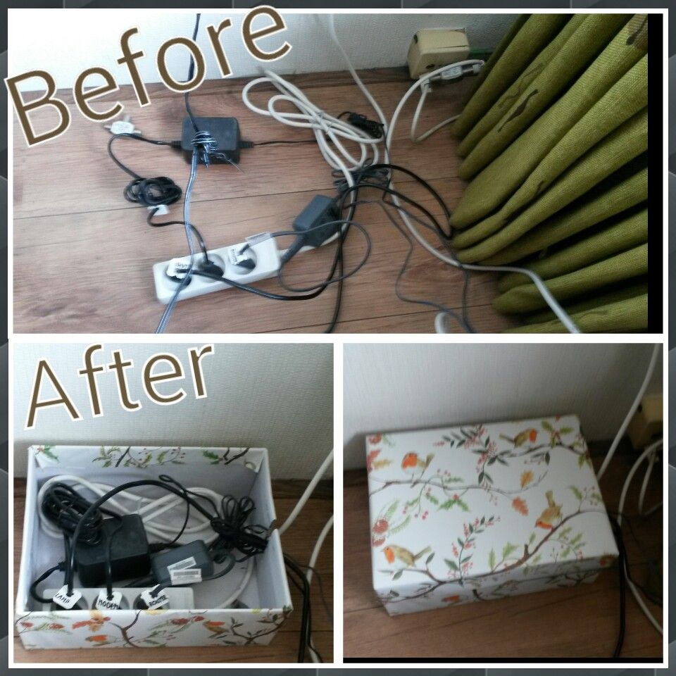 Great idea for messy corners with too much cables and adapters..