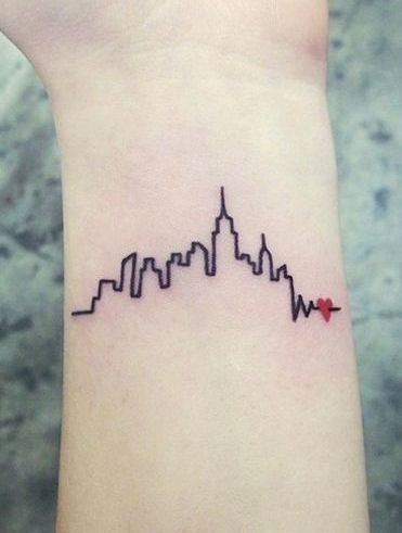 15 Of The Most Insane New York City Inspired Tattoos Tiny Wrist Tattoos Cool Wrist Tattoos Nyc Tattoo