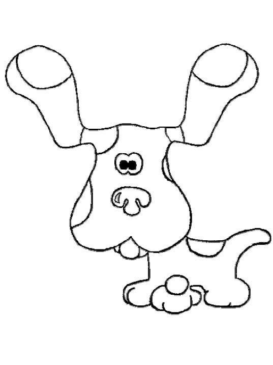 Blues Clues Dog Coloring For Kids