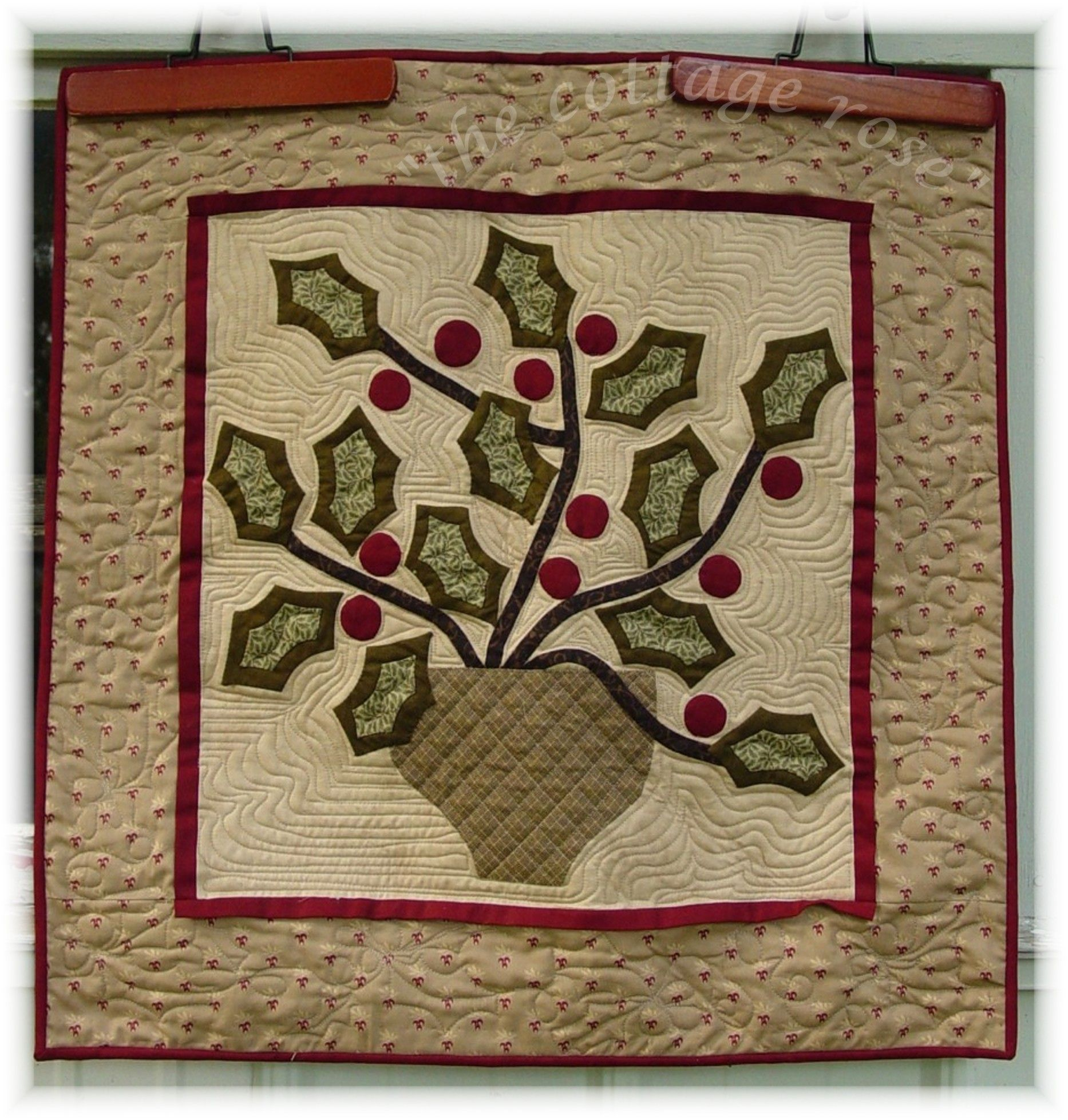 Gatherings Winter wall quilt pattern by Deb Eggers | Cottage Rose ... : rose cottage quilt shop - Adamdwight.com