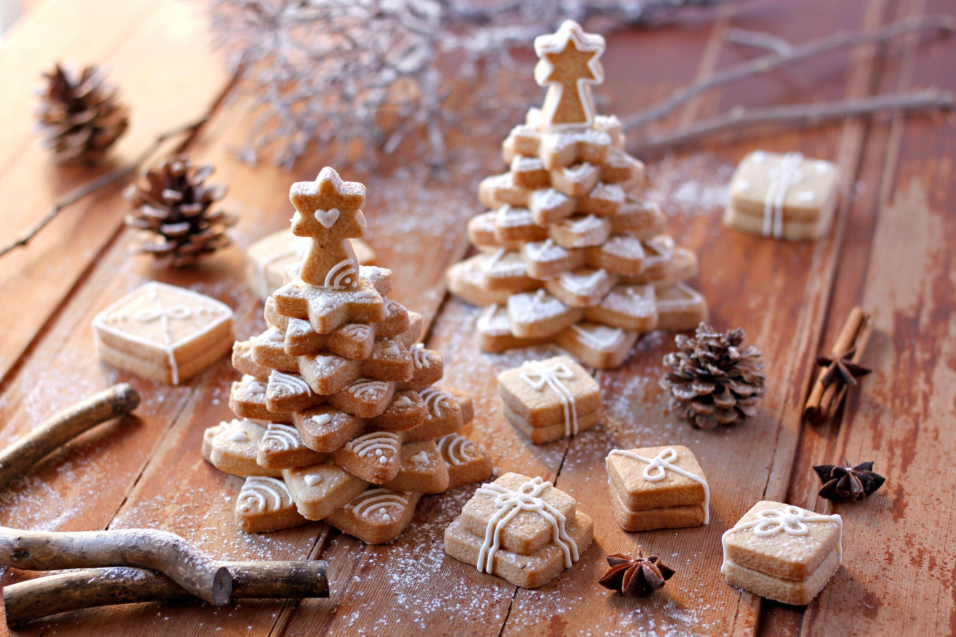 Albero Di Natale Biscotti.Christmas Cookie Tree Alimenti Di Natale Dolci Di Natale Biscotti Di Natale