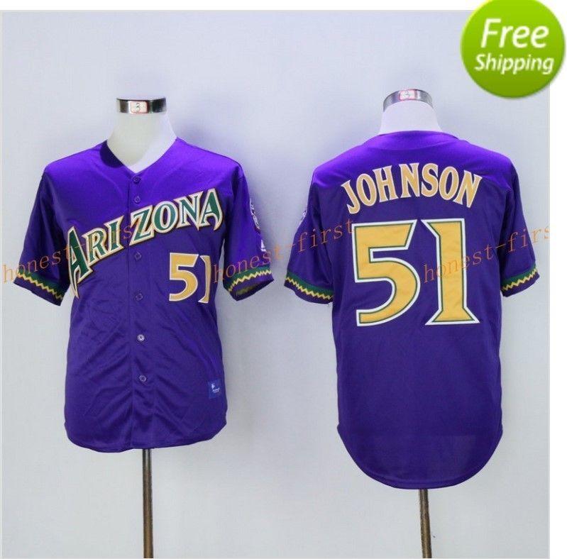 21176171d Randy  Johnson  Number  51  Arizona  Diamondbacks  Jerseys  Baseball ...