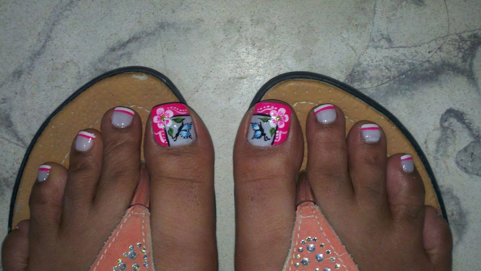 Resultado de imagen para mejores decorados de u as de pies for Decoraciones faciles para unas