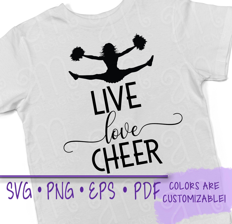 Download Live love cheer, live love cheer svg, cheerleading ...