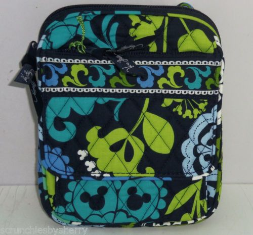 Disney Vera Bradley Where's Mickey Mini Hipster Purse Blue Lime Green Wallet NWT