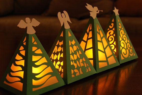 ec3eac7d4 Christmas Tree Luminary Digital Cutting Files - SVG, PDF   holidaze ...