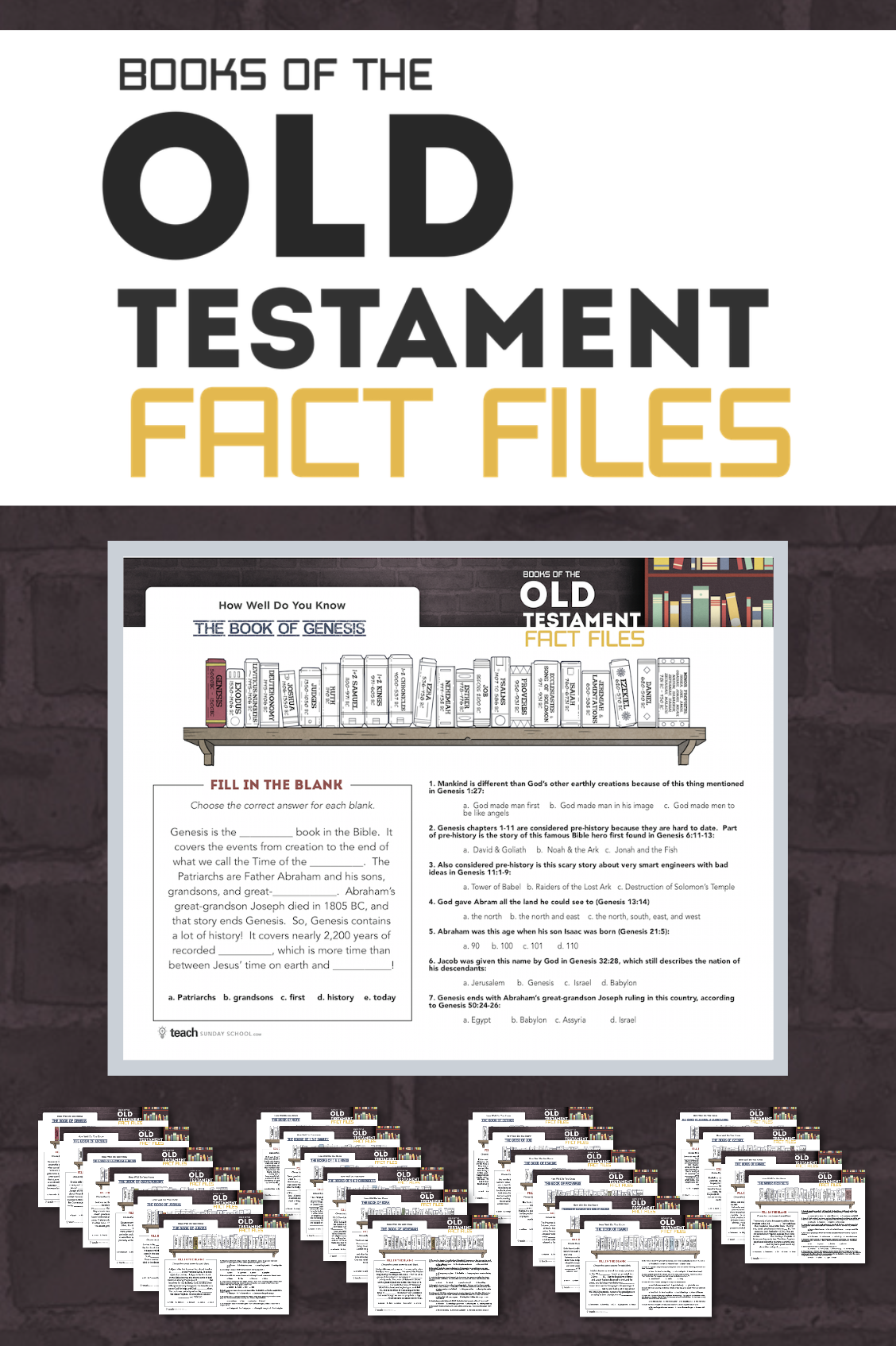Master The Old Testament Books With These Printable Book