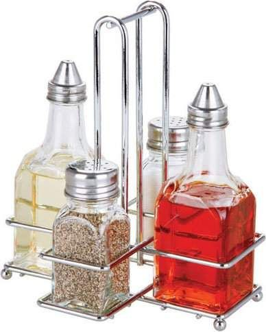 home basics 5 piece cruet set recycled glass bottles oil vinegar dispensers olive oil bottles on kitchen organization oil and vinegar id=75610