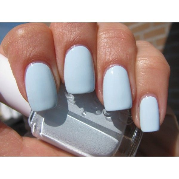 light blue nail polish (btw do not get essie. i have this same shade ...