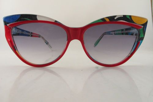 Vintage 80s sunglasses Claire Barrat IGM differences asymmetric ooOOhhHHEeee