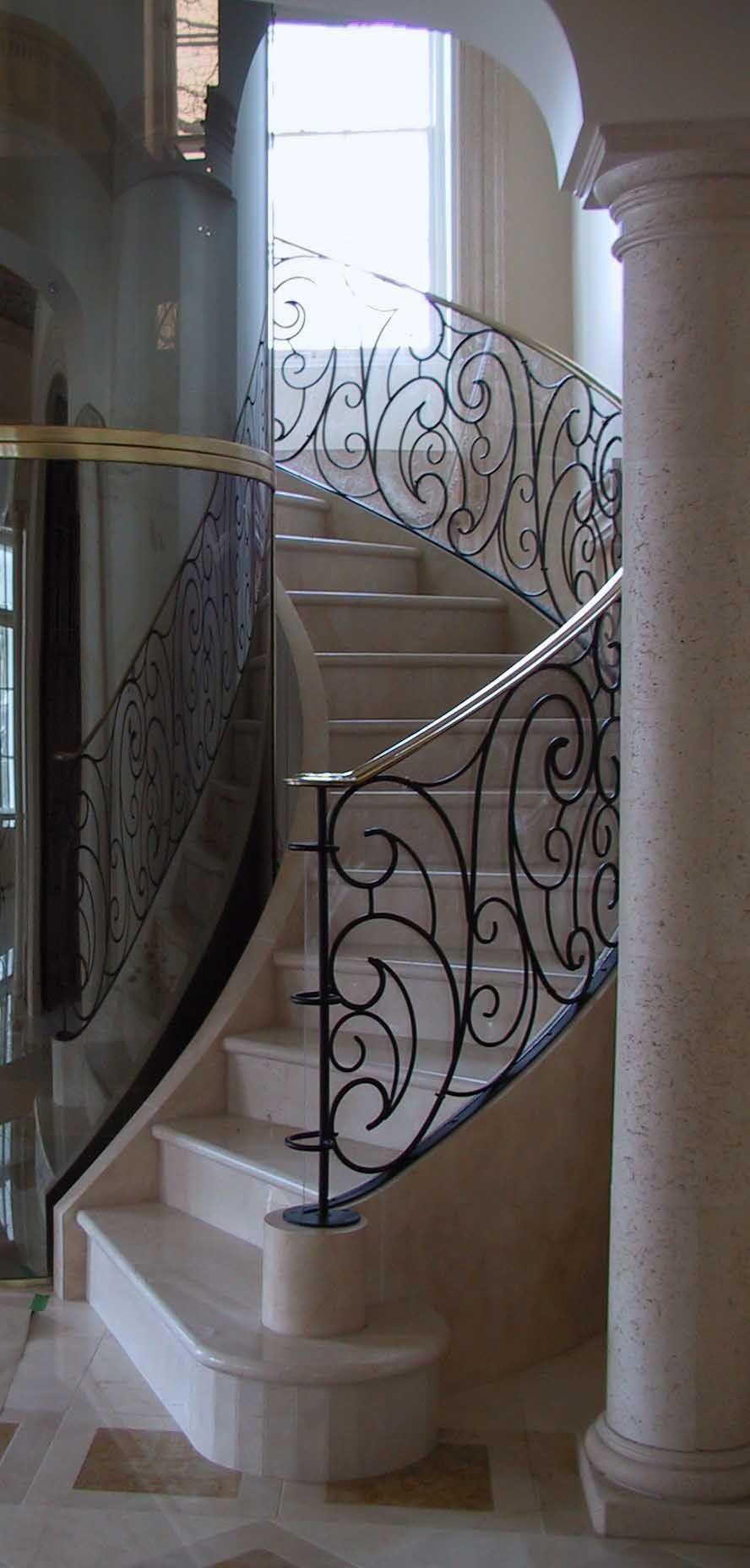 Best מהמם לדעתי Elegant Interior Hand Forged Metal Railings By 400 x 300