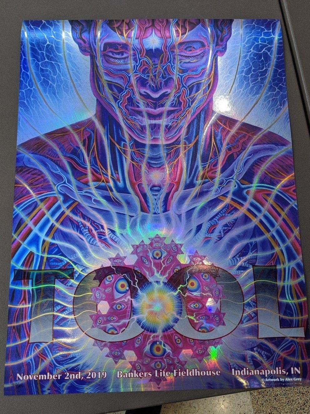 Alex Grey Tool Indianapolis Concert Poster 2019 Band Posters Tool Concert Concert Posters