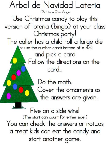 Arbol de Navidad Loteria (Christmas Tree Bingo) could say the ...