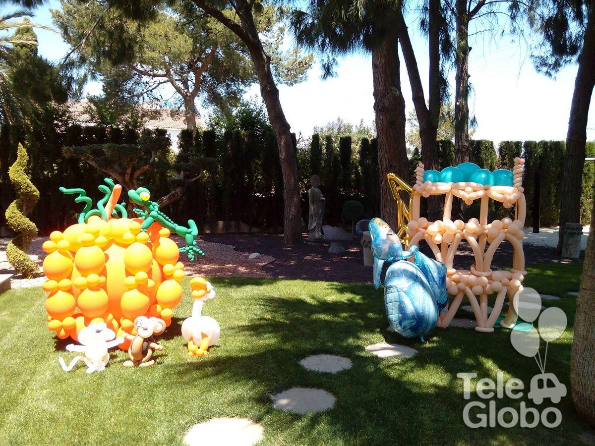 Photocall de globos de Cenicienta para Primera Comunión