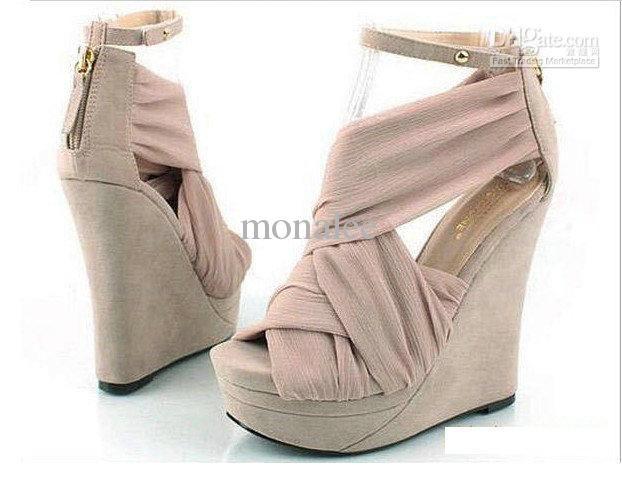 Wedding Shoes High Heels Peep Toe Platform Wedges Sandals Boots StyleX007