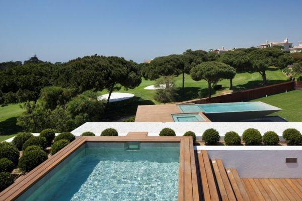 Schwimmbad Freien-moderne Gartengestaltung   Piscinas, banheiras etc ...