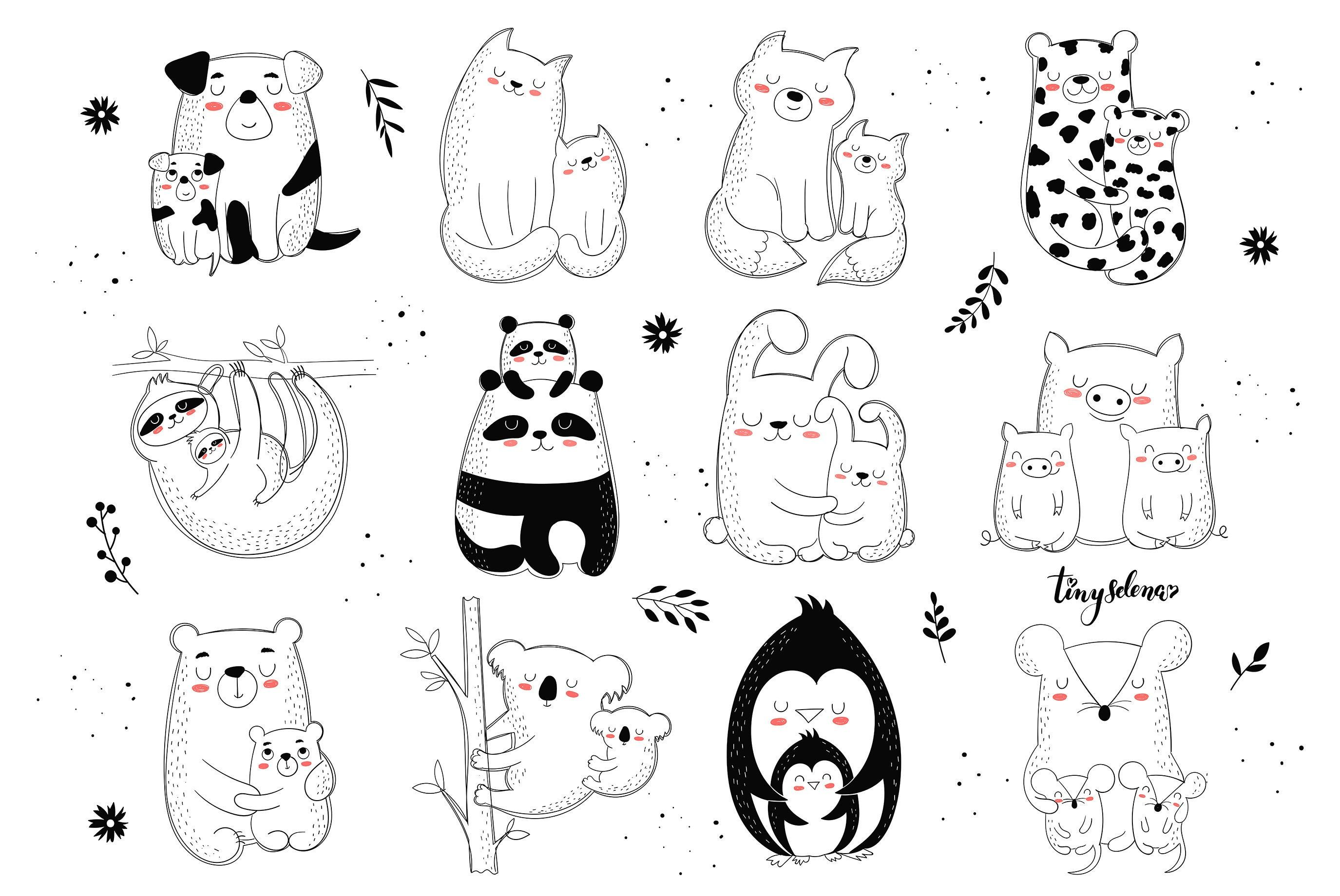 Mothers Day Svg Mother S Day Clipart Animal Mothers Bear Etsy In 2021 Mothers Day Drawings Doodle Mom Clip Art