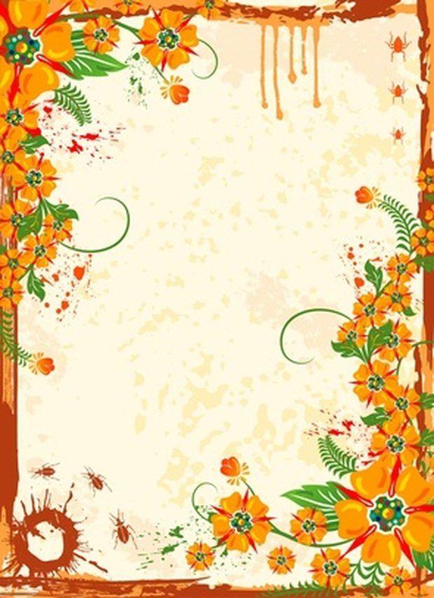 C mo encontrar a marcos florales de texto para documentos - Marcos para plantas ...