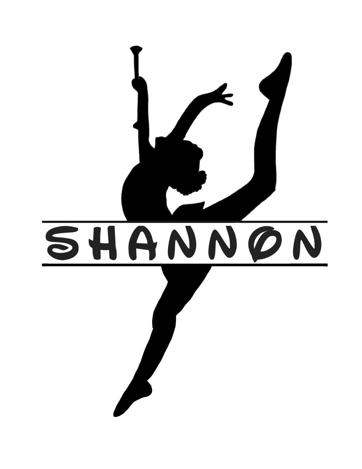 Personalized Baton Twirler Decal With Name Majorette