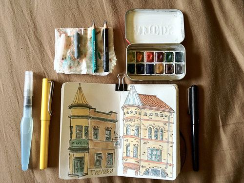 Travel Sketch Kit Open Travel Doodles Travel Drawing