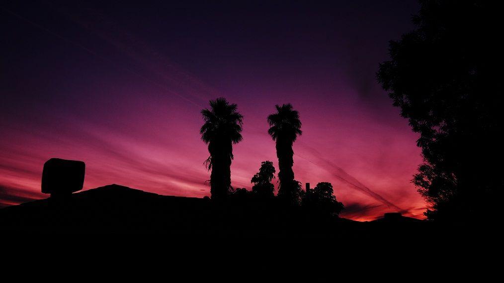 Sunset in my neighborhood, with a little tweeking.