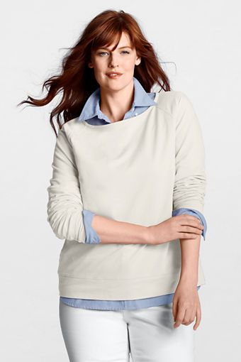 Women's Starfish Long Sleeve Boatneck Top from Lands' End