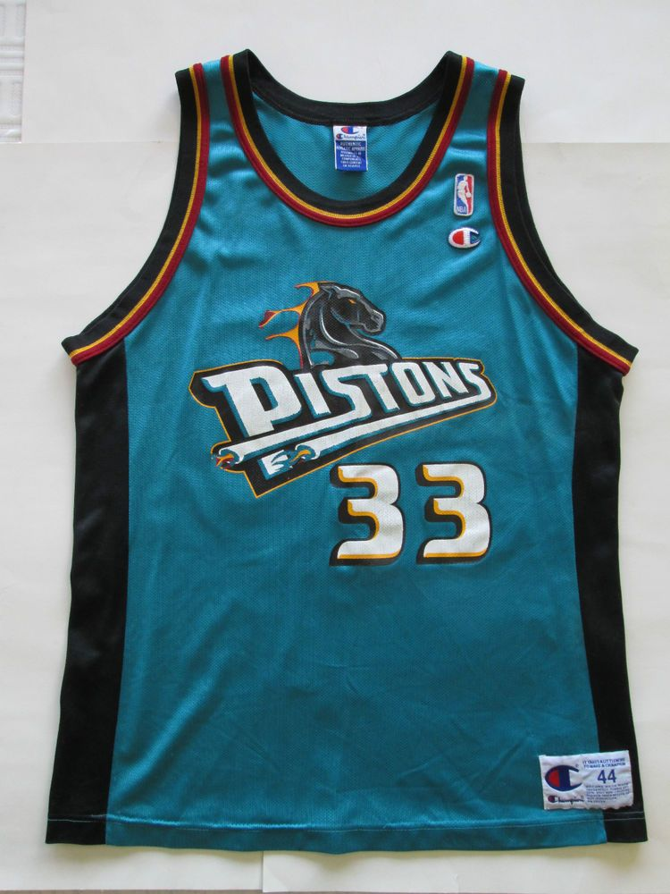 2234587dc31f NBA VINTAGE Grant Hill  33 Detroit Pistons Jersey by Champion