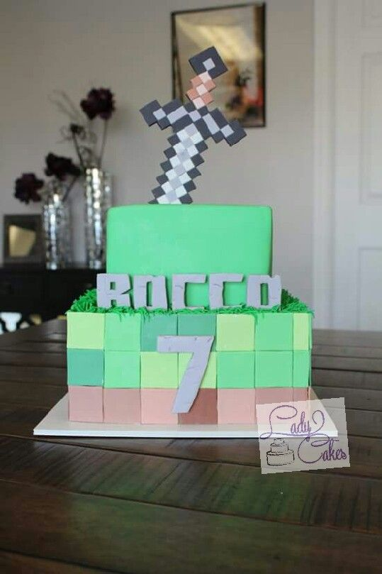 Minecraft Cake 7th Birthday Cake Boys Birthday Cake Ideas