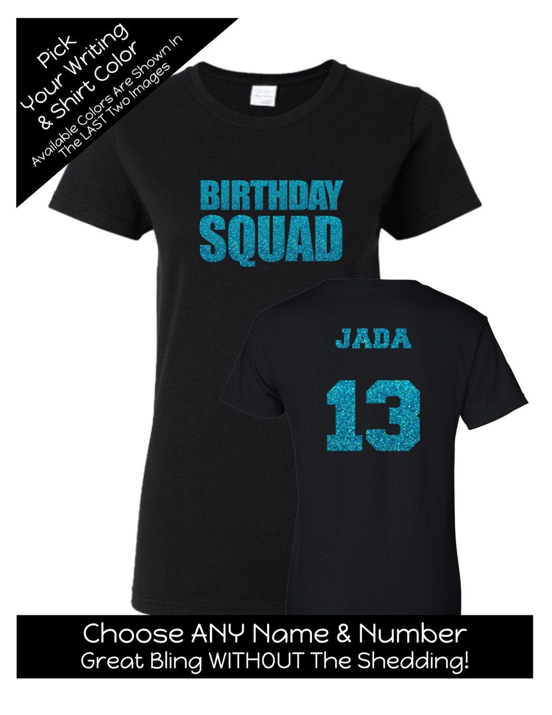 Birthday Squad Shirt Impact