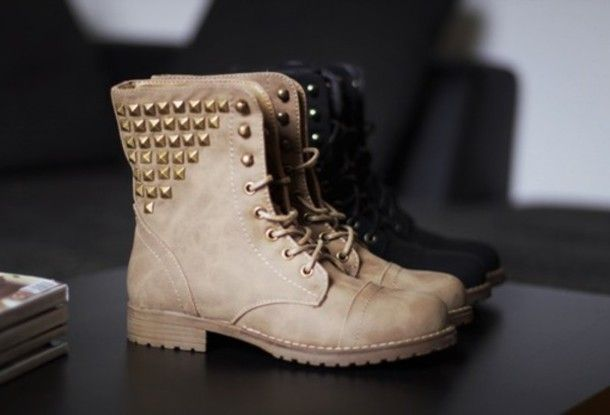 shoes boots brown boots black boots studs studded shoes combat boots brown boots