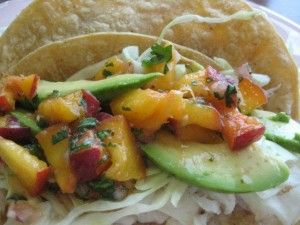 Fish Tacos with Peach Salsa | Marisa Voorhees