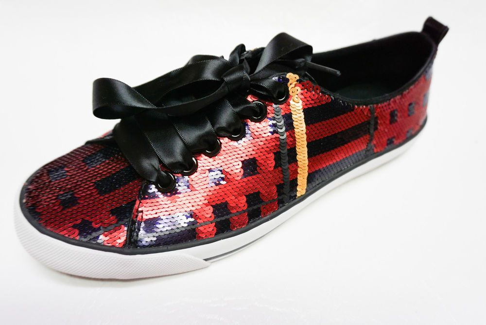 6197d106873a Coach womens Q1760 WILLA Tartan Sequins navy multi sneakers shoes 8 NEW in  box  Coach