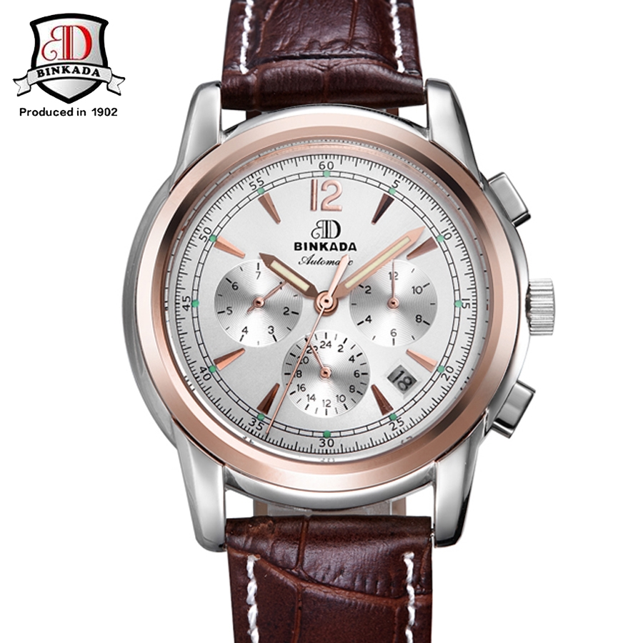 (62.24$)  Watch now - http://aillj.worlditems.win/all/product.php?id=32719210625 - BINKADA Brand Top Luxury Men Mechanical Watch Men's Fashion Automatic Mechanical Watches Men Wristwatch Relojes Hombre Horloges