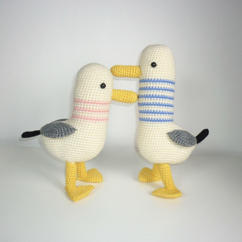 Mouette au crochet fait main : Jeux, jouets par madebysissinou ...